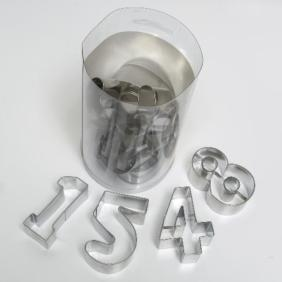 NUMBERS GIANT 10pce Fondant cutters Set