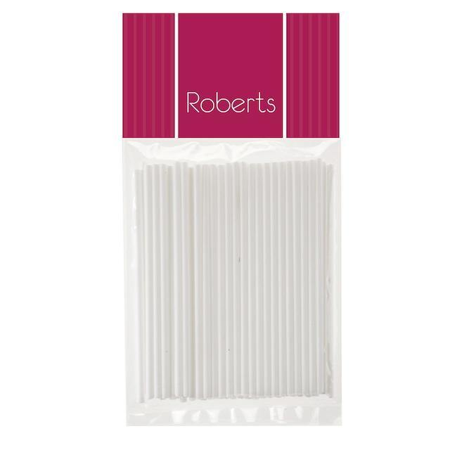Lollipop Sticks 10cm WHITE 50pk