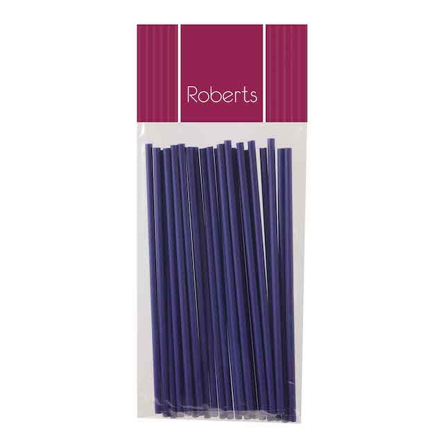 Lollipop Sticks 15cm PURPLE 25pce