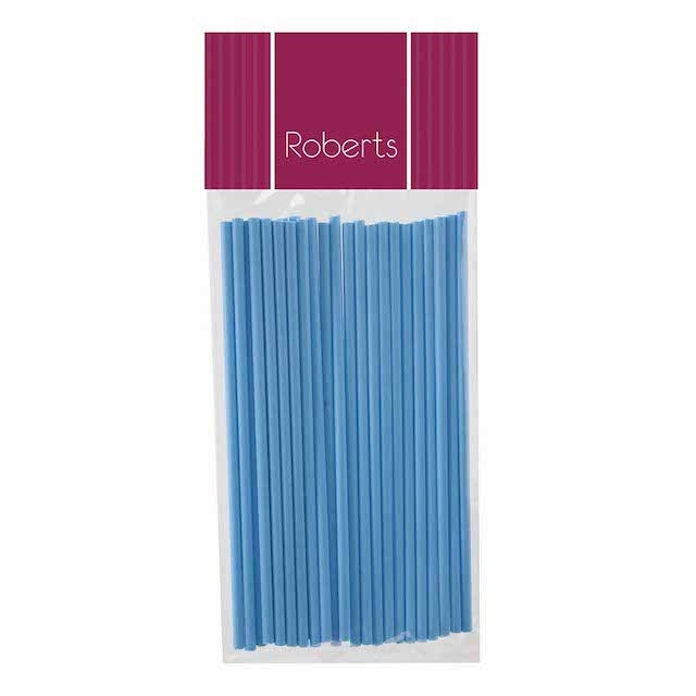 Lollipop Sticks 15cm BABY BLUE 25pk