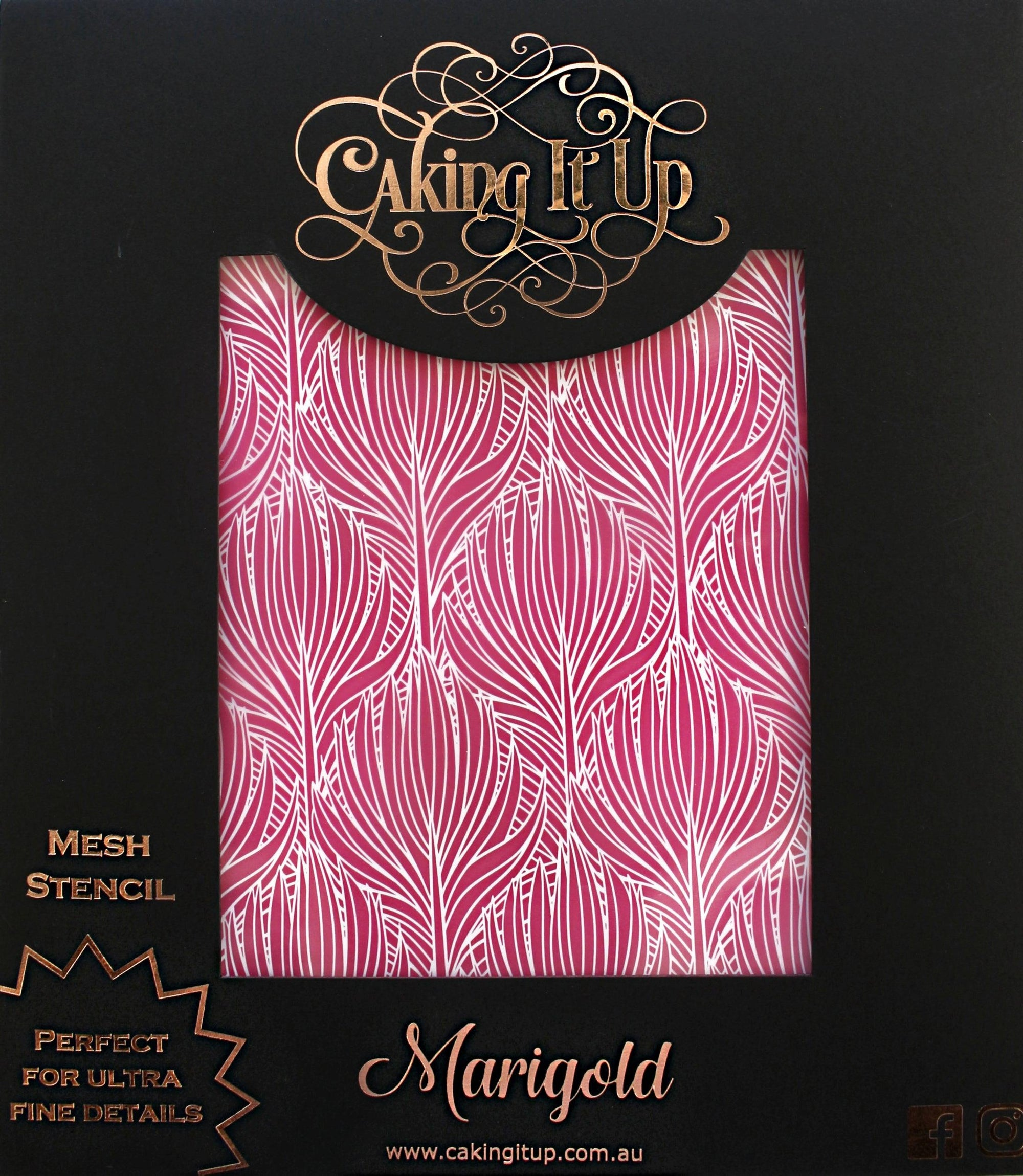 Caking It Up MARIGOLD Mesh Cake Stencil NEW