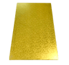 RECTANGLE 10IN X 16IN GOLD MDF BOARD