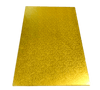 RECTANGLE 12IN X 18IN GOLD MDF BOARD