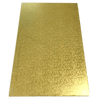 RECTANGLE 16IN X 24IN GOLD MDF BOARD