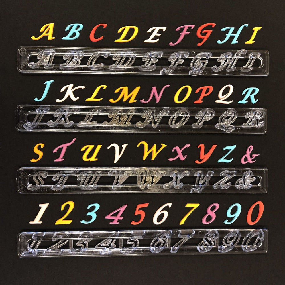 FMM SCRIPT Alphabet Uppercase and Number tappit set