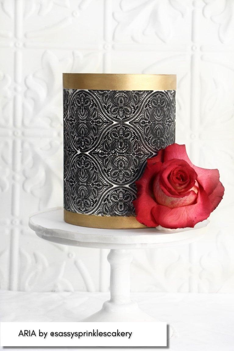 Caking It Up ARIA Mesh Cake Stencil NEW