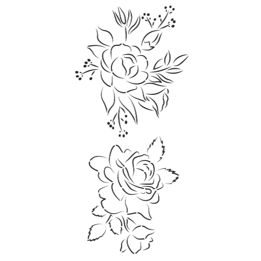 Caking It Up BLOOM II Outline Cake Stencil