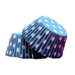 BLUE POLKA DOTS Cupcake Papers 50pk