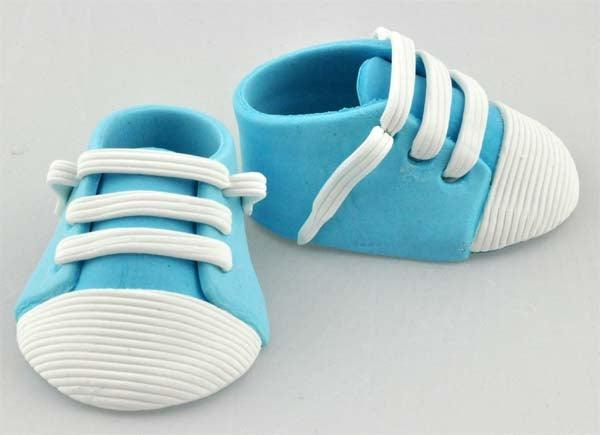 Baby Sneakers 2 pce Cake Topper BLUE