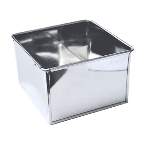 SQUARE 10in (25.5cm) x 5in high Cake Tin