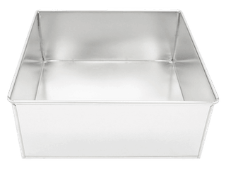 SQUARE 4in (10cm) x 3in high Cake Tin