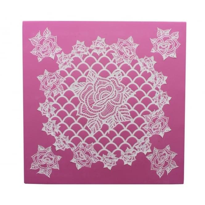 RING OF ROSES 3D Cake Lace Mat