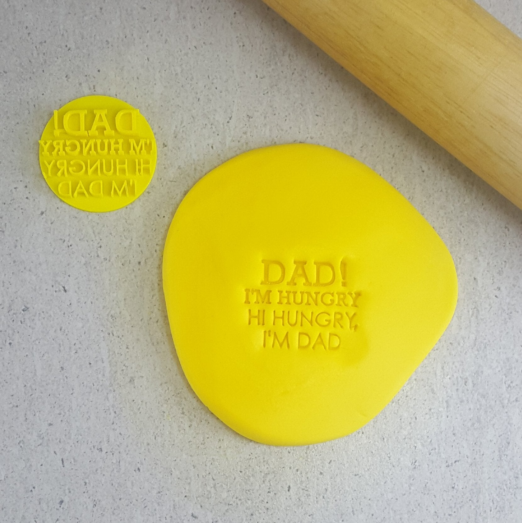 DAD IM HUNGRY 60mm COOKIE EMBOSSER
