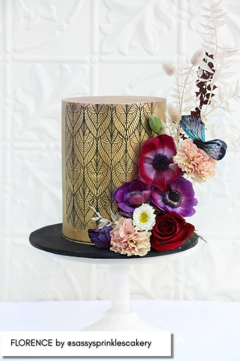 Caking It Up FLORENCE Mesh Cake Stencil NEW
