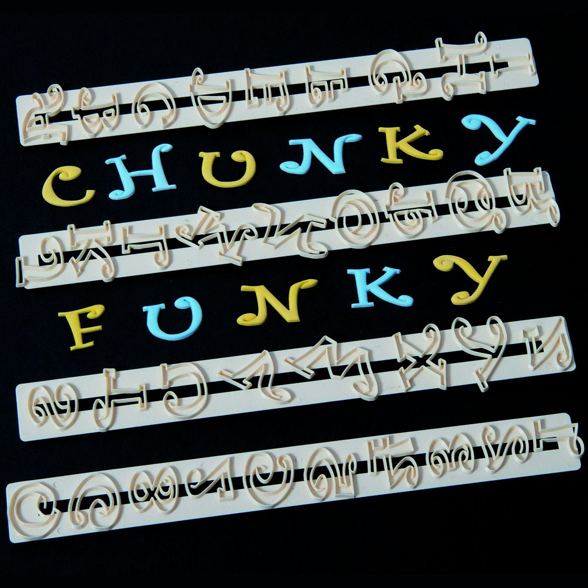 FMM CHUNKY FUNKY Alphabet and Number tappit set