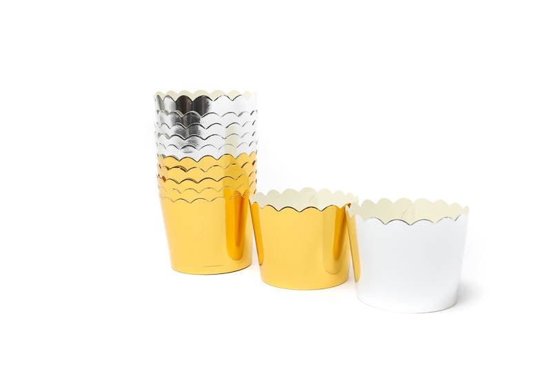 GOLD FOIL CARD BAKING CUPS 25 pce