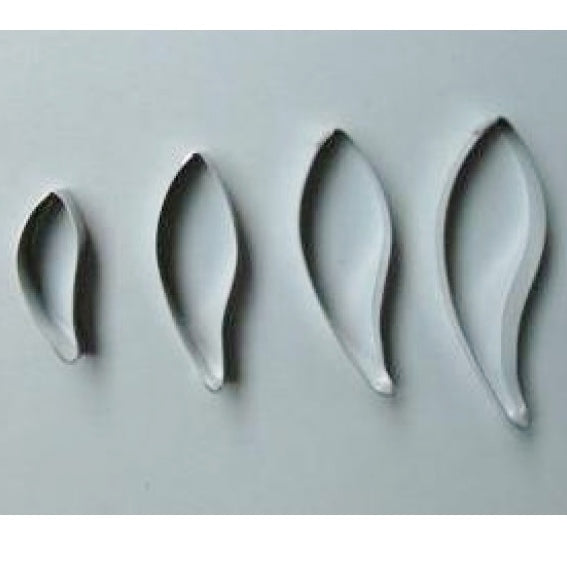 GUM LEAVES 4pce fondant cutter set