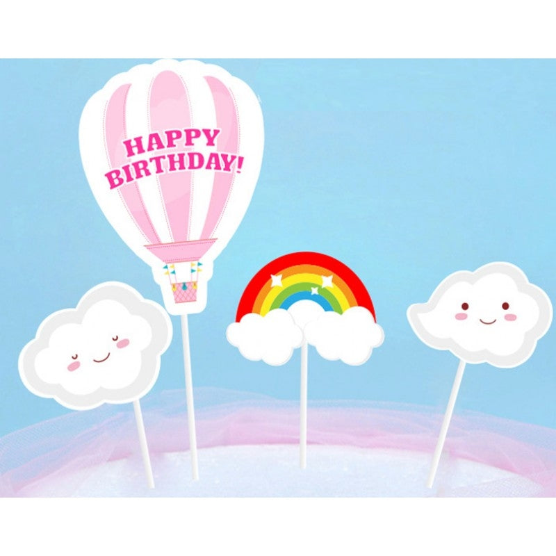 Happy Birthday Balloon Paper Topper Set