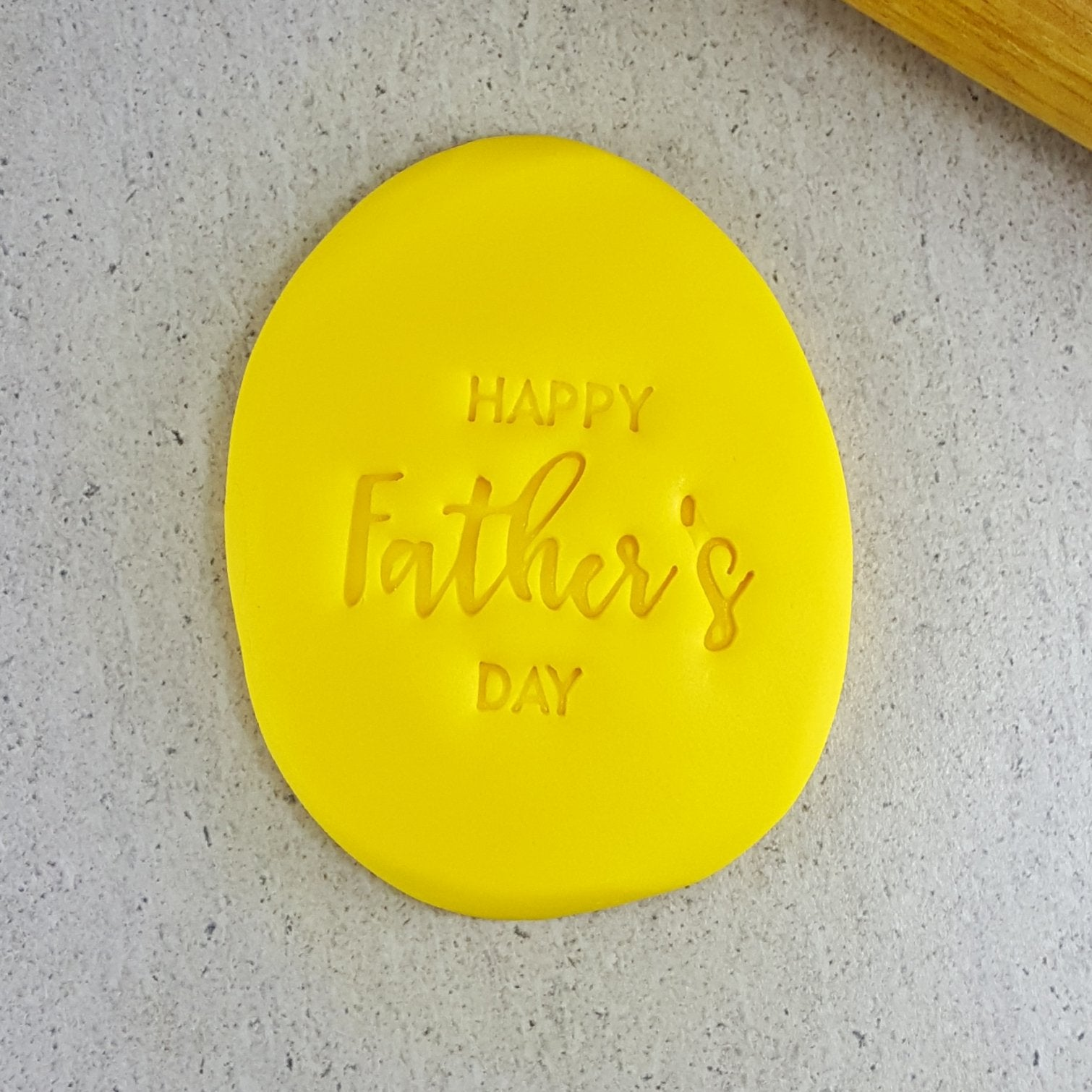 HAPPY FATHERS DAY 60mm COOKIE EMBOSSER