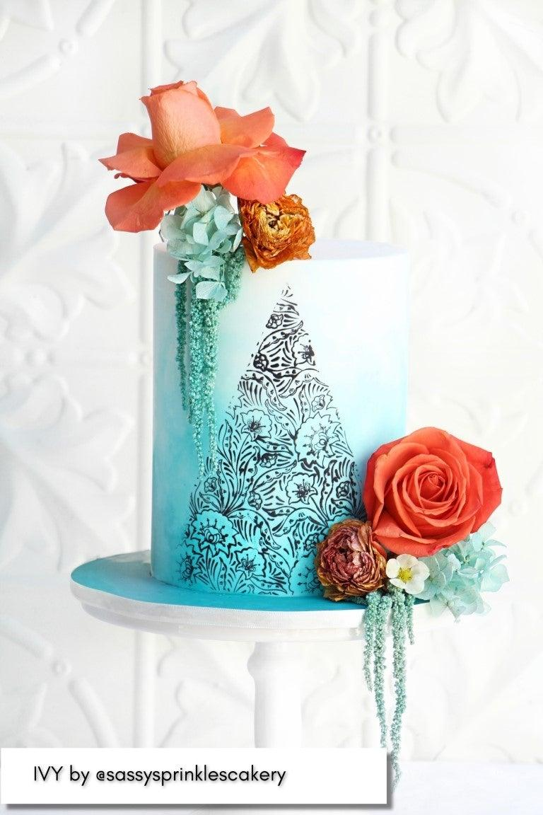 Caking It Up IVY Mesh Cake Stencil NEW