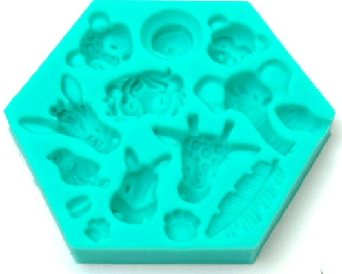 Silicone Mould JUNGLE ANIMALS