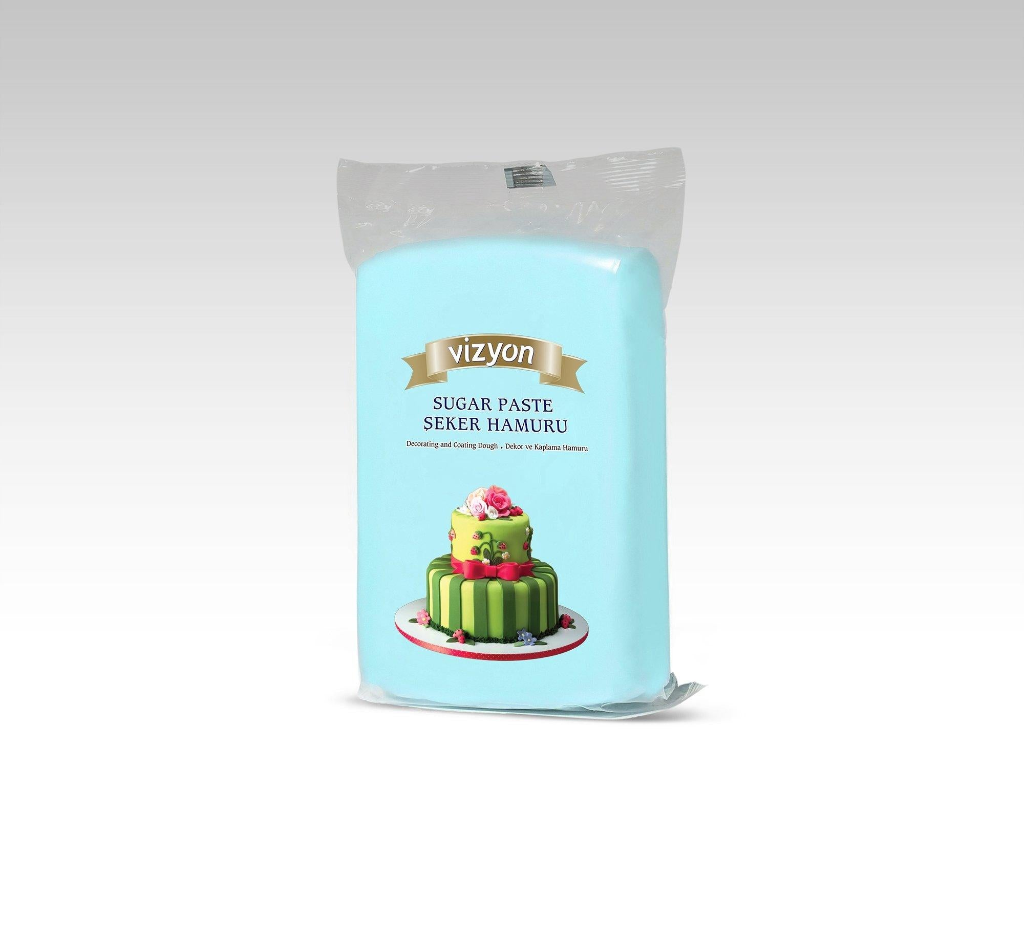 Vizyon Sugar Paste LIGHT BLUE 250g
