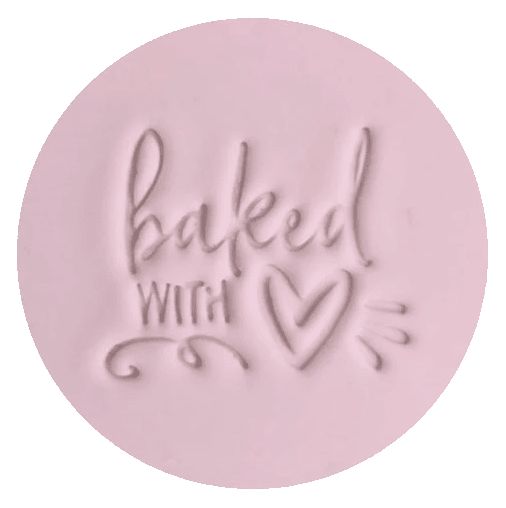 BAKED with LOVE 60MM COOKIE EMBOSSER by Little Biskut