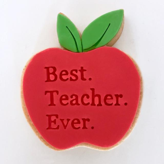 BEST TEACHER EVER EMBOSSER 40MM by Little Biskut