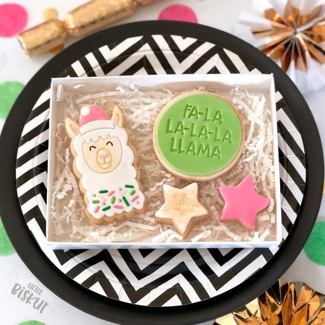 CHRISTMAS LAMA CUTTER + EMBOSSER SET by Little Biskut