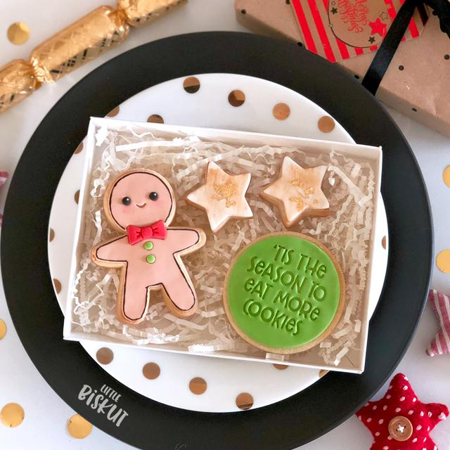 GINGERBREAD MAN CUTTER + EMBOSSER SET by Little Biskut