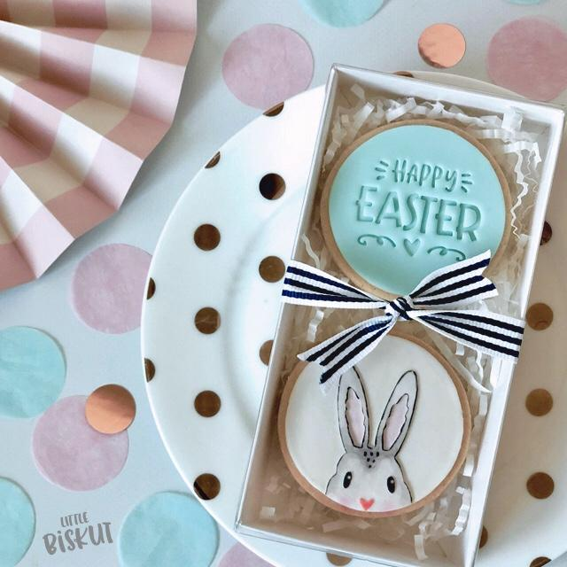 HAPPY EASTER LOVE 40MM EMBOSSER by Little Biskut