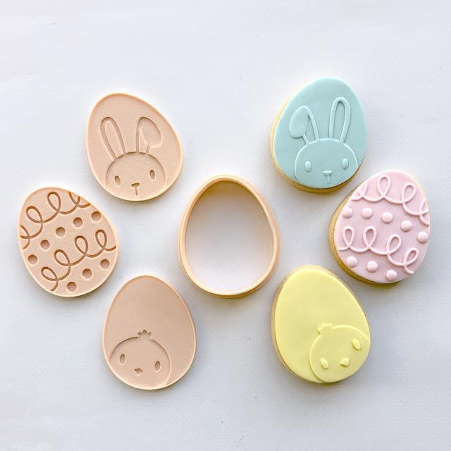 MINI EASTER EGG MULTI CUTTER + EMBOSSERS by Little Biskut