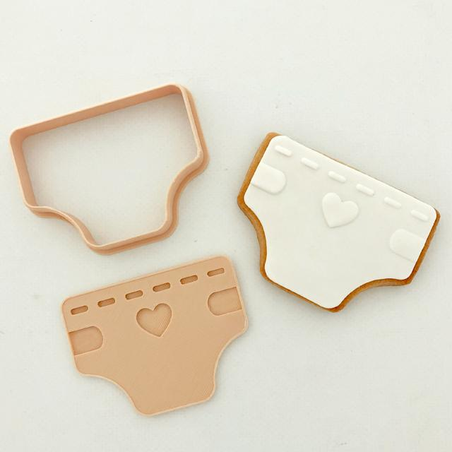 NAPPY CUTTER + STAMP SET by Little Biskut