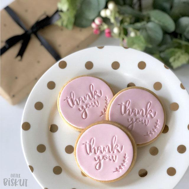 THANK YOU 60mm COOKIE EMBOSSER by Little Biskut