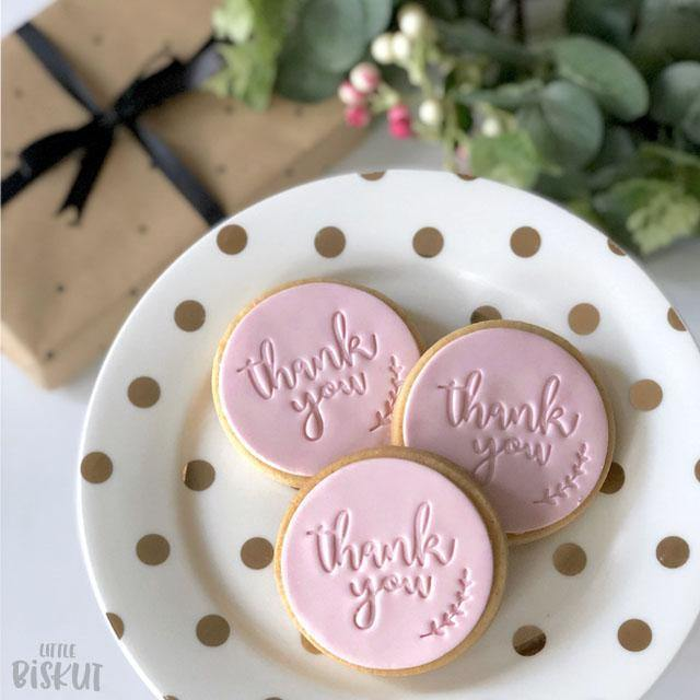 THANK YOU 40mm COOKIE EMBOSSER by Little Biskut