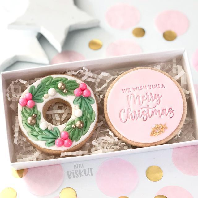 WE WISH YOU A MERRY CHRISTMAS COOKIE EMBOSSER 60MM by Little Biskut