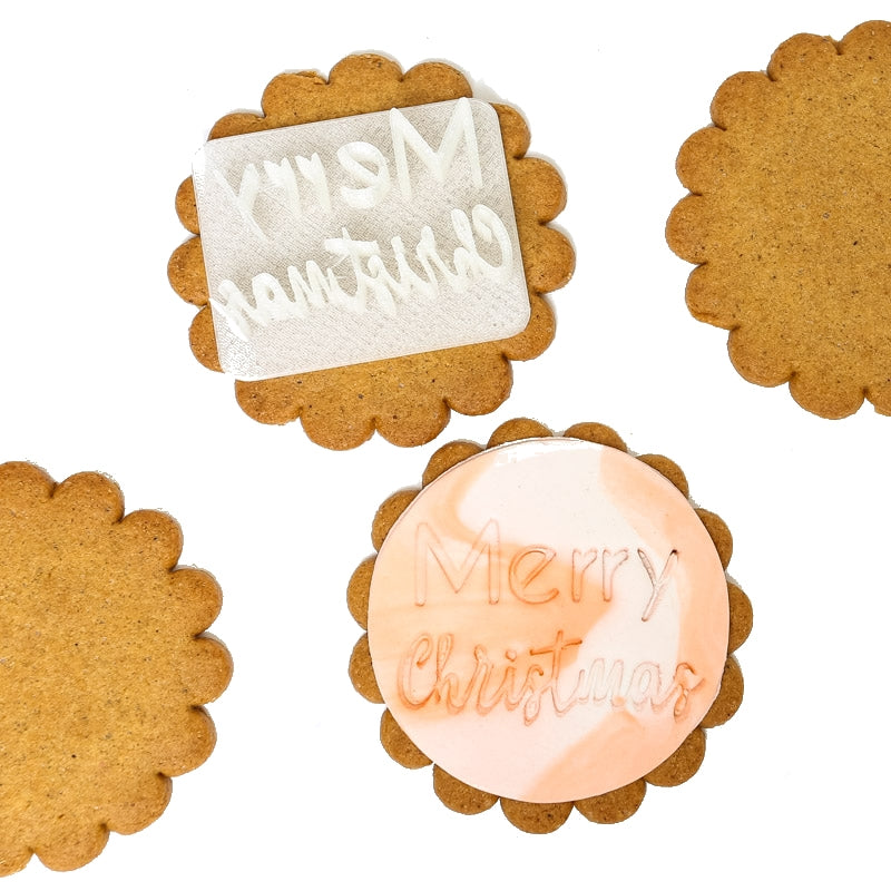MERRY CHRISTMAS Fondant Cookie EMBOSSERS