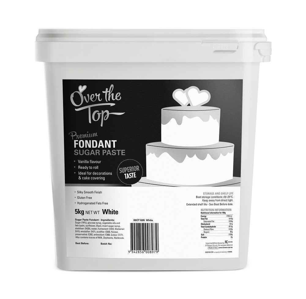 OVER THE TOP WHITE FONDANT 5KG