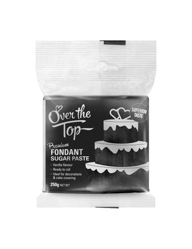 OVER THE TOP SUPER BLACK 250G PREMIUM FONDANT