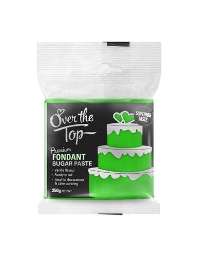OVER THE TOP GRASS GREEN 250G PREMIUM FONDANT