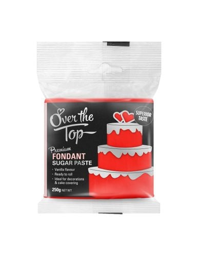 OVER THE TOP SUPER RED 250G PREMIUM FONDANT