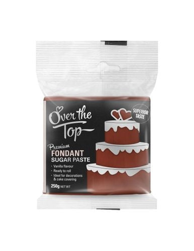 OVER THE TOP WARM BROWN 250G PREMIUM FONDANT
