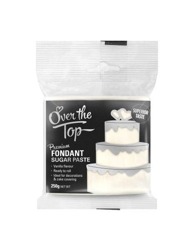 OVER THE TOP WHITE 250G PREMIUM FONDANT