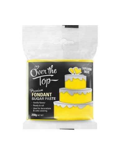 OVER THE TOP YELLOW 250G PREMIUM FONDANT