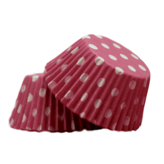 PINK POLKA DOTS Cupcake Papers 50pk