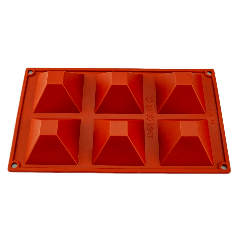 PYRAMID 70mm chocolate mould 6 cavity
