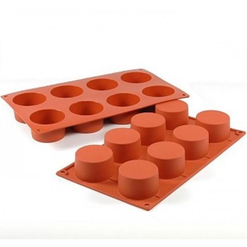 Round Cylinder Mould - 8 Cavity