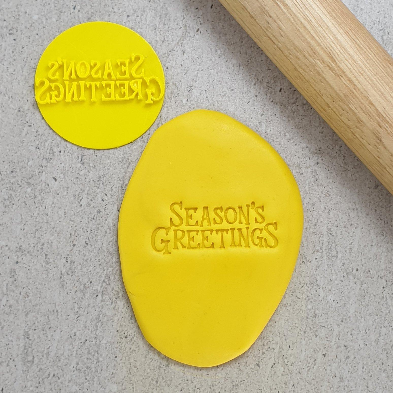 SEASONS GREETINGS 60MM COOKIE EMBOSSER