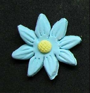 Daisy Cupcake Decorations BLUE 10 Pack