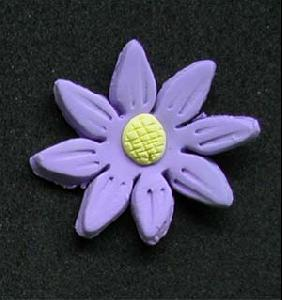Daisy Cupcake Decorations LAVENDAR 10 Pack